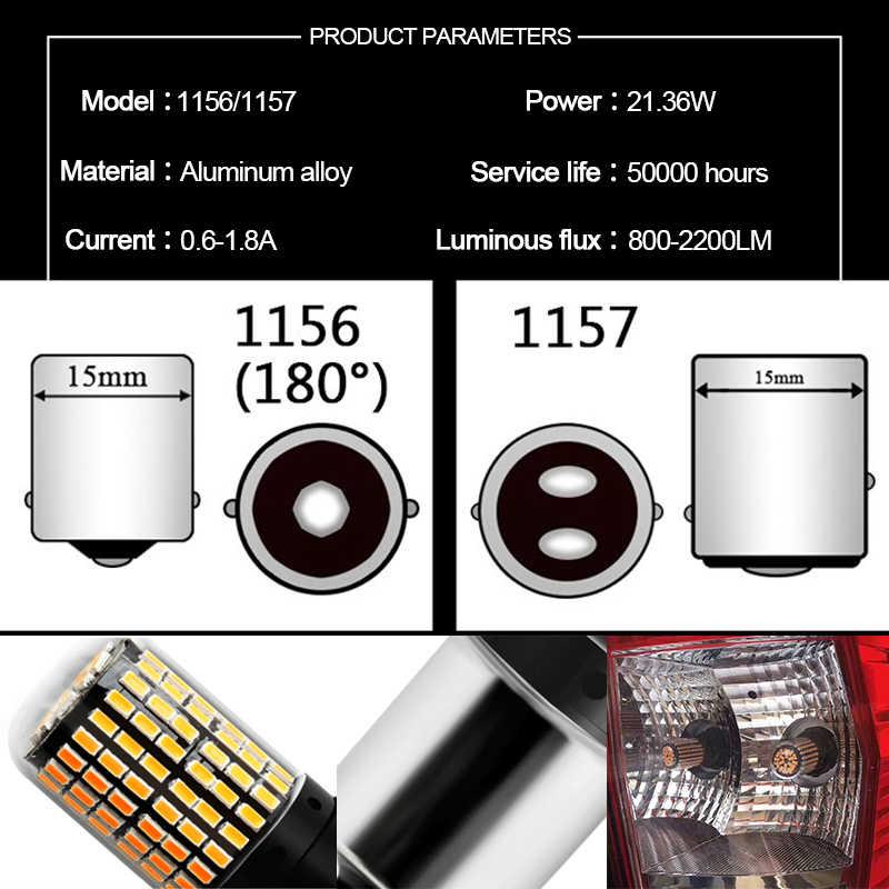 Araba 12V LED 3014 144 SMD BA15S 1156 BA15D 1157 Canbus Led ışık ampuller hiçbir hata otomatik fren lambası dönüş sinyal lambaları ters işıklar