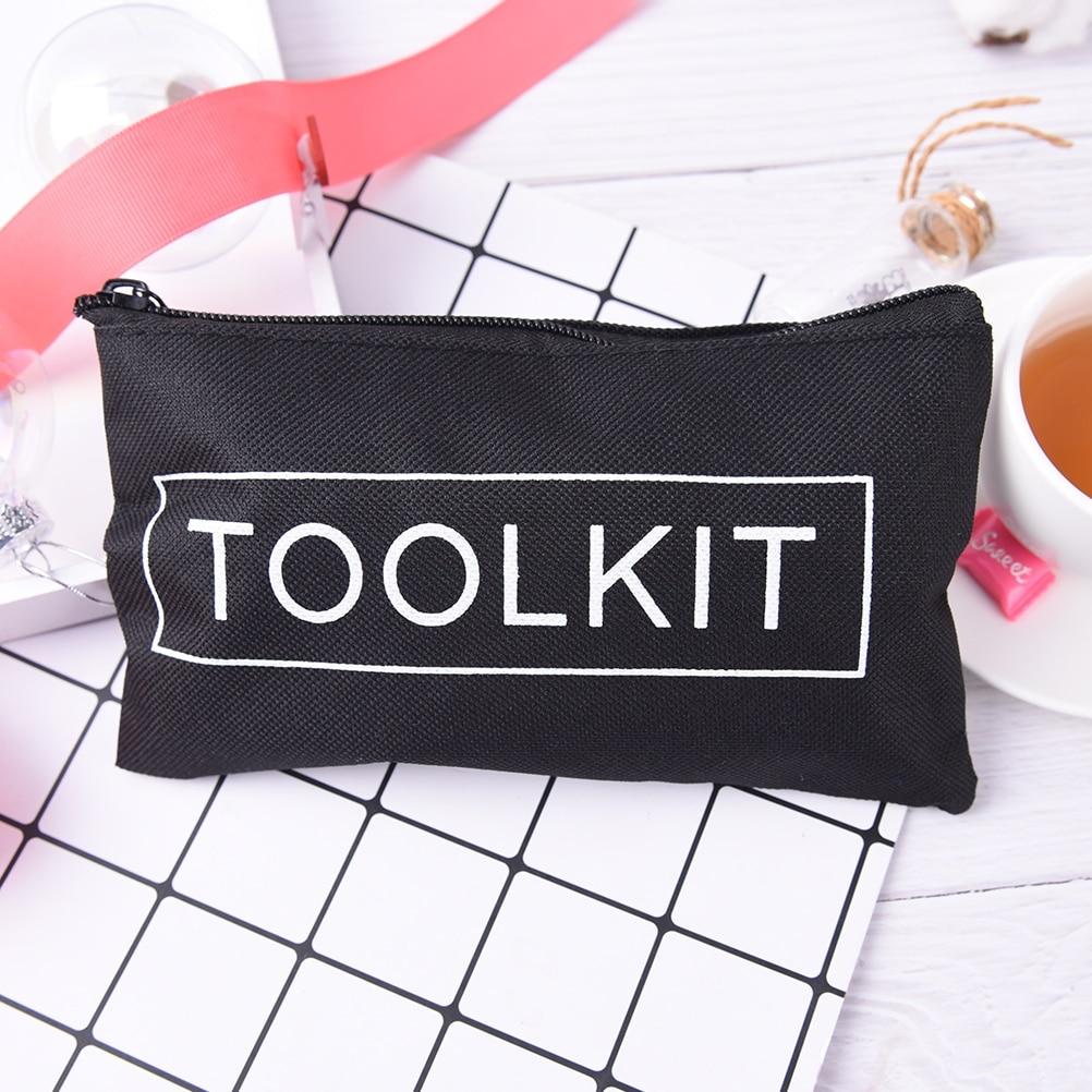 Bag Scissors Case Waterproof-Tool-Kit Travel-Accessories Black Oxford Zipper 19--11cm