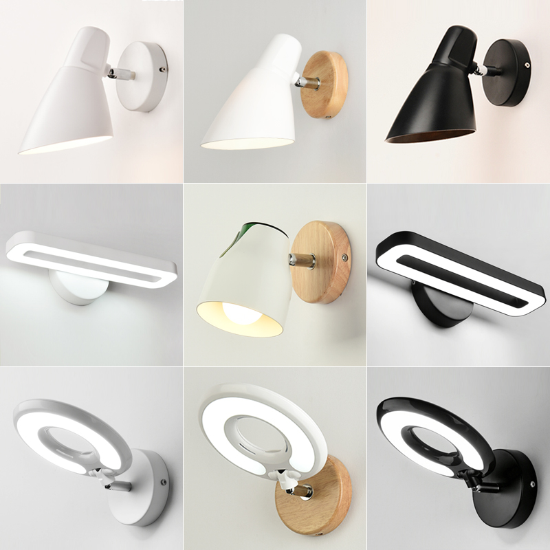 Creative LED wall lamp Modern bedroom wall sconce living room bedside wall light study vanity light bathroom led wall lights