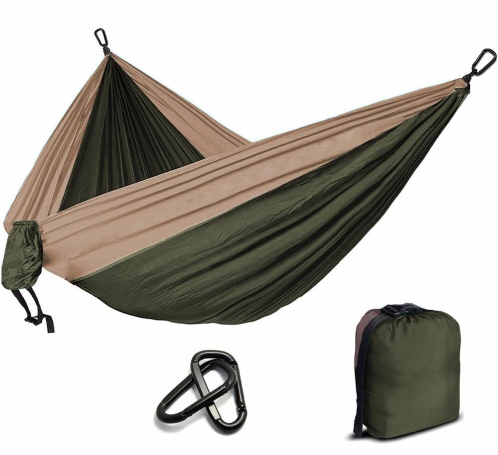 Outdoor Furniture Leisure Sleeping Hamaca Travel Double 300*200cm And 260*140cm Hamak Camping Parachute Hammock Survival Garden