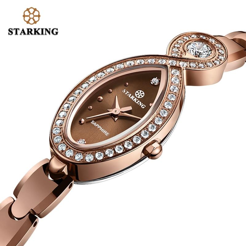 Starking Luxury Tungsten Steel Watch Woman Quartz Sapphire Crystal Watch Female 30m Waterproof Small Dial Watch Ladies Clock цена и фото