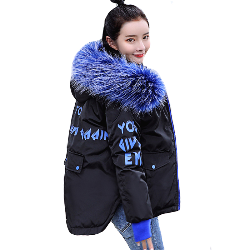 2019 New Fashion Winter Jacket Women With Fur Hooded Short Coat Padded Outwear Womens Winter   Parka   Abrigos Mujer Invierno