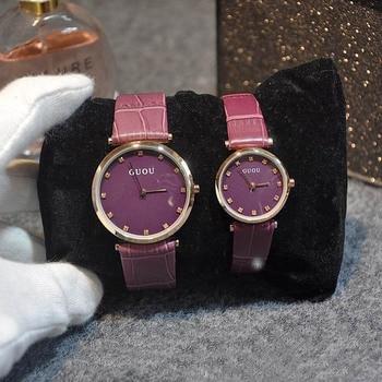 Новые повседневные брендовые наручные часы Copule, кварцевые часы высокого качества, женские часы из натуральной кожи, уникальные простые рос...
