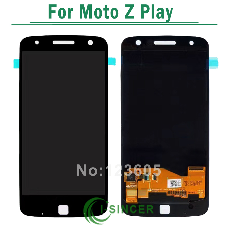 White Black For Motorola Moto Z Play Droid XT1635 LCD Display Touch Screen Digitizer Full Assembly Free Shipping