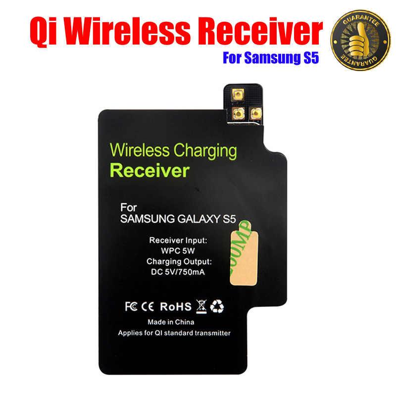 Высокое Качество Беспроводное зарядное устройство приемник с импортным IC для samsung Galaxy S5 I9600 Qi стандартный зарядный адаптер беспроводной приемник