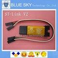 Novo ST-Link V2 stlink mini-stm8stm32 STLINK simulador de download de programação Com Tampa