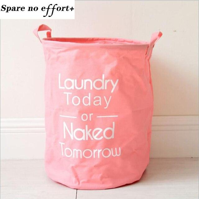 Orange Color Baby Clothes Storage Basket Multipurpose Magazine Toy Barrel Organizer Laundry