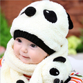 Cartoon New Fashion Lovely Panda Shaped Baby Hats Scarf Kids Pocket Hats Child Scarf Shawl Girl Muffler Beanie Caps Winter Hats