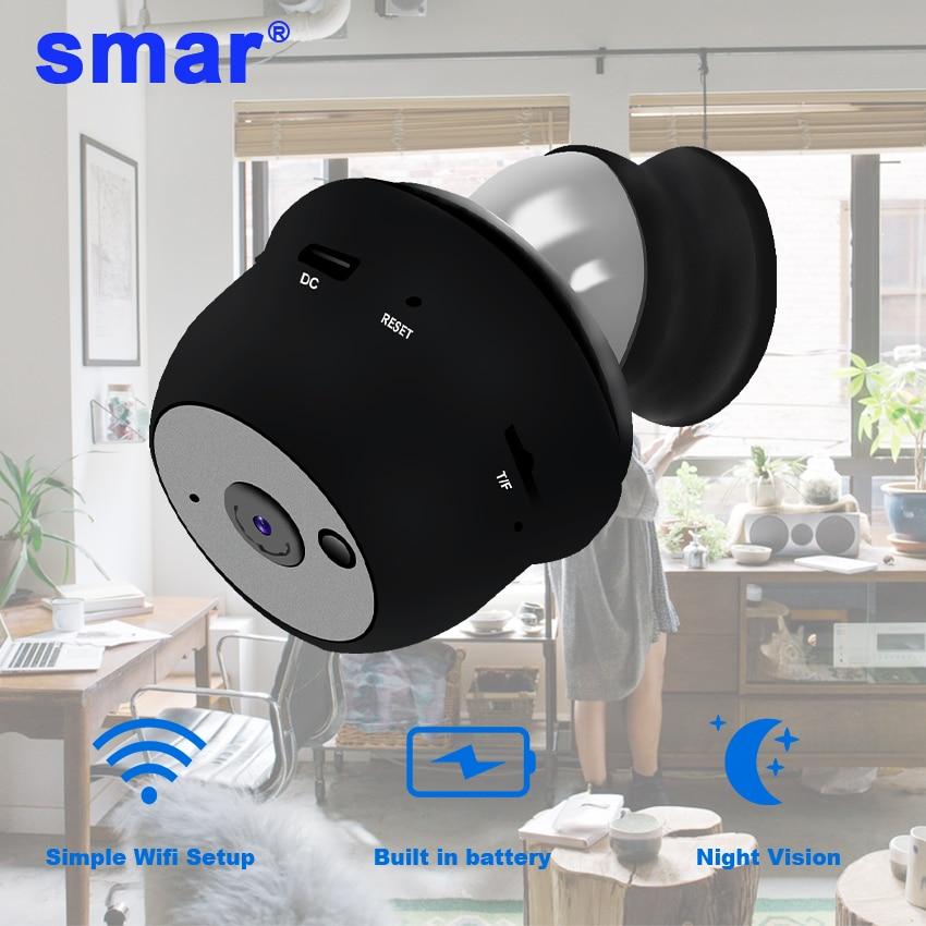 Smar Ip Camera Mini Camera Wifi HD Sensor Night Vision Small Camcorder TF Card Slot Motion Detection P2P Cloud View