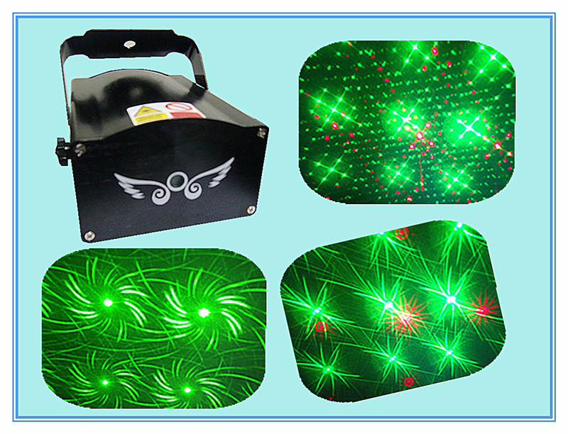 Rasha Factory Mini Laser Light 150mW RG DJ Laser Light 8in1 Fantastic Laser Effects Stage Laser Rain For Party Event Holiday