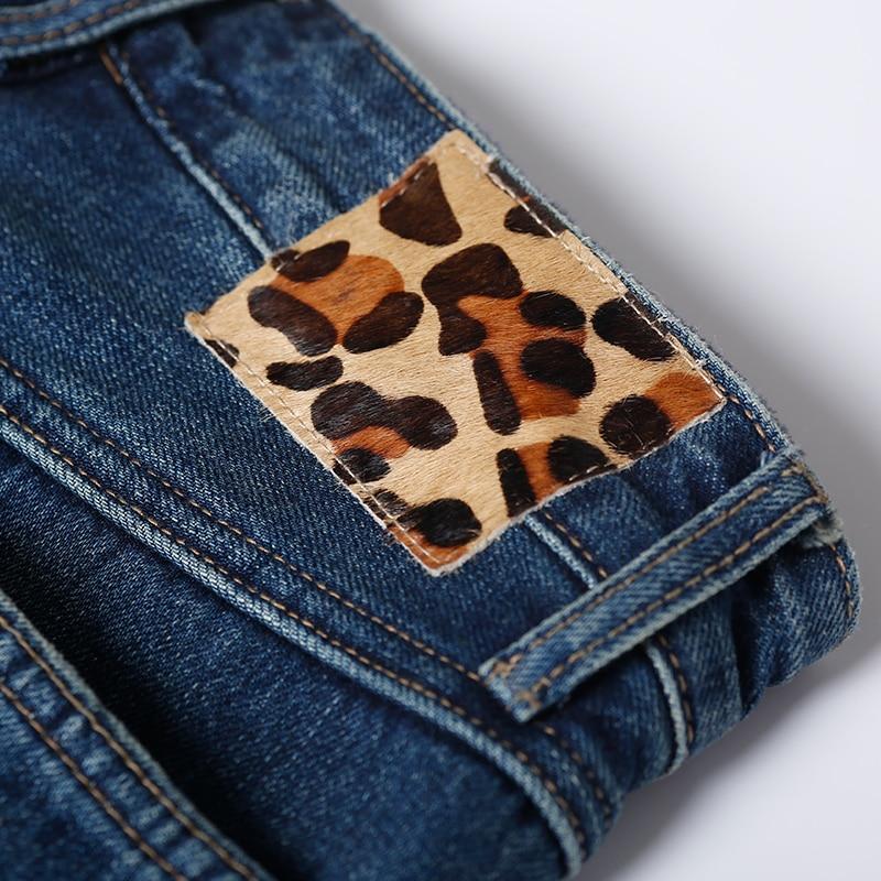 Marino N3055 The Mujer Jeans Cintura No Azul Rectos Blue Alta Casual Joker Stretch ZqF8Z