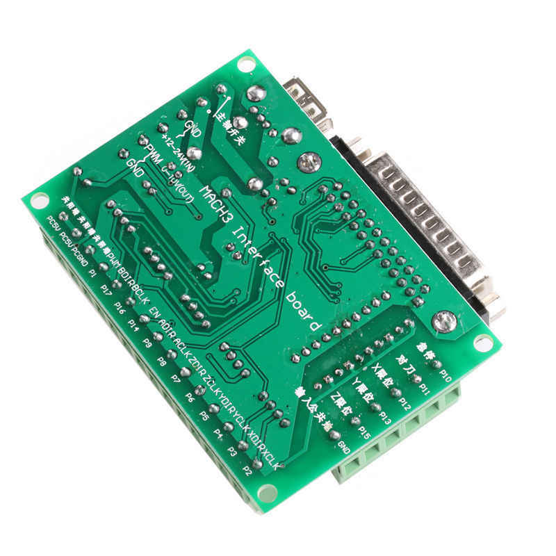 5 Axis CNC Breakout Board with Optical Coupler for Stepper Motor Driver MACH3 Usefull Motor Controller Drop Ship
