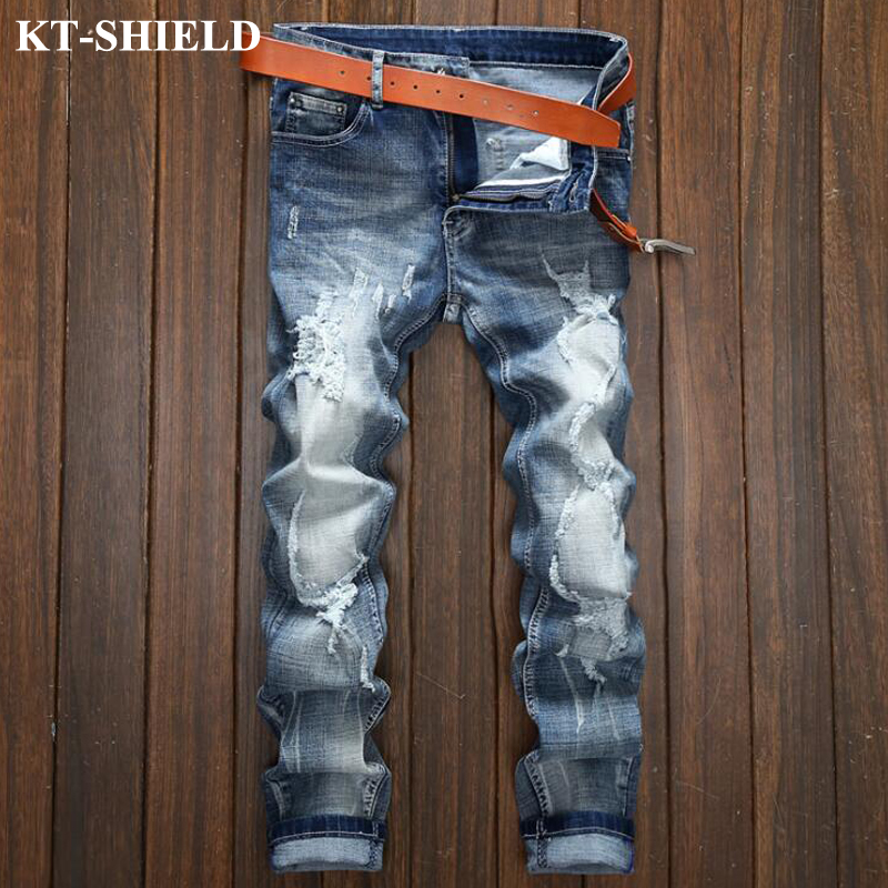 New Slim fit Men Jean Trousers Spring New Fashion Trend Brand Denim Casual Male Harem Pants