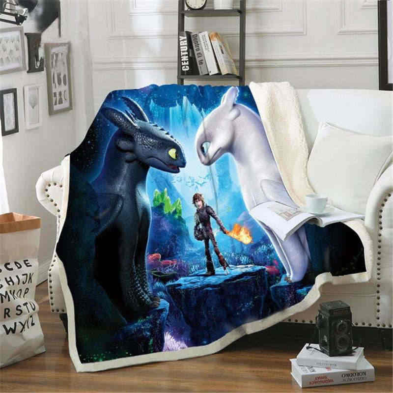 How to Train Your Dragon Back To School Sofa Flannel Blanket Scotland Pattern Custom Fleece Throw Bedspread Blanket Microfiber