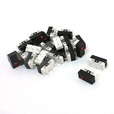 20 Pcs SPDT NO+NC Momentary Push Button Micro Switch 0.005A 30VDC for Mouse 10pcs ac 380v 15a black button actuator spdt momentary micro switch blue