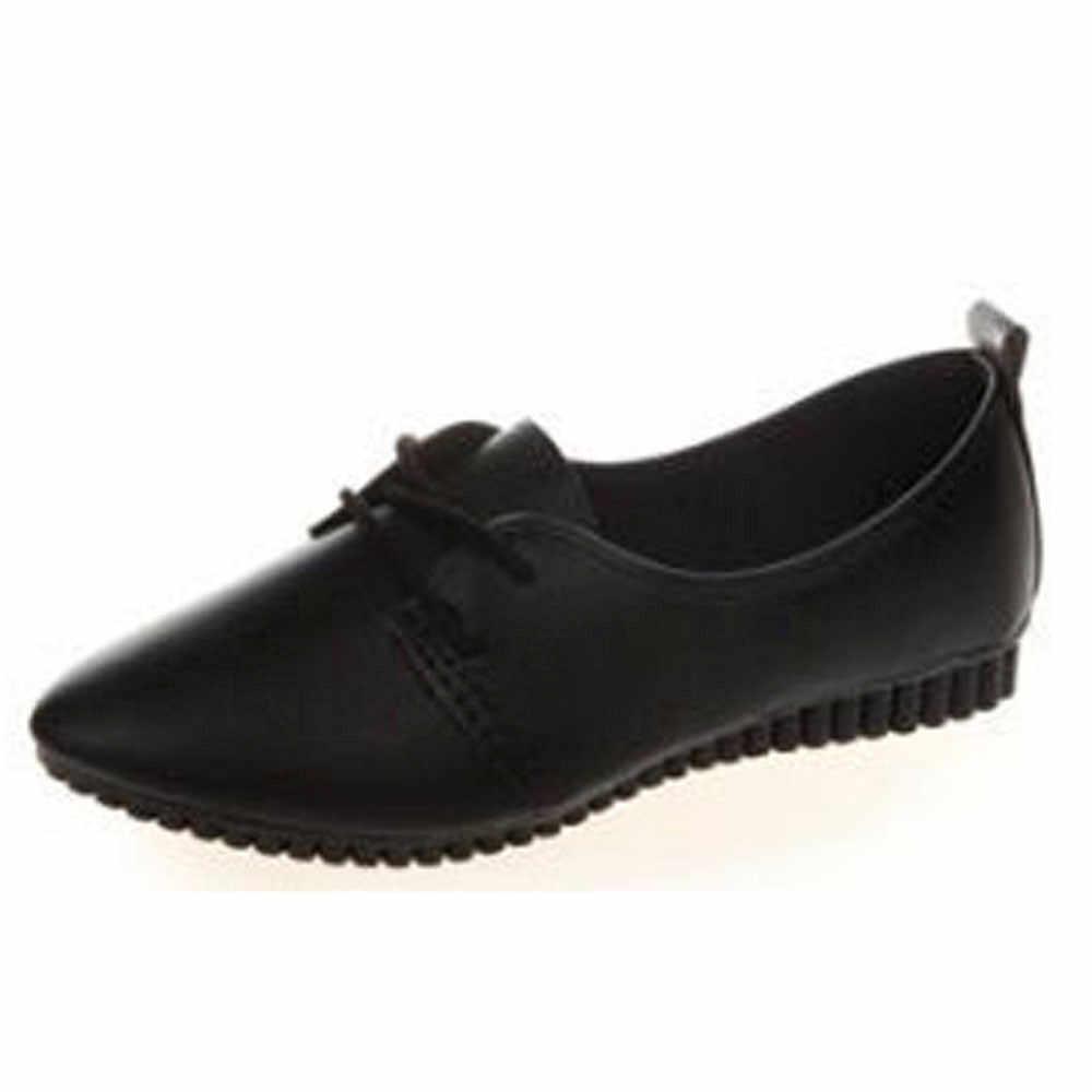 Vrouwen oxford Platte lente schoenen voor vrouw lederen flats zomer brogues vintage veters loafers casual sneakers schoenen # YJP