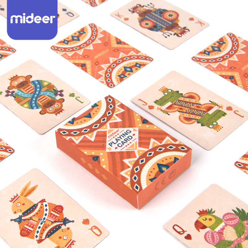 MiDeer Baby Educational Toys Playing Card Set Paper Game Learning Math Toddler Toys For Kids Party Game Gift