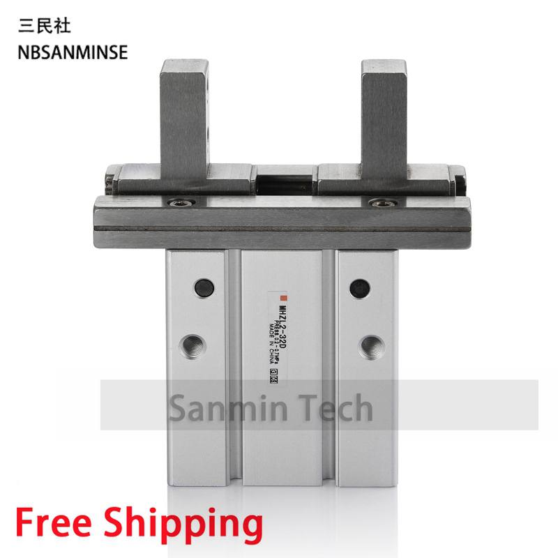Air Double Acting Pneumatic Gripper MHZ2 SMC Type Compress Air Parts Pneumatic Compressed Air Cylinder Sanmin high quality double acting pneumatic air cylinder gripper mhc2 10d smc type angular style aluminium clamps
