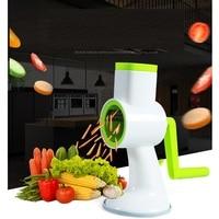 Manual Potato Carrot Slicer Vegetable Grater Round Mandoline Slicer Vegetable Cutter With 4 Drum Style