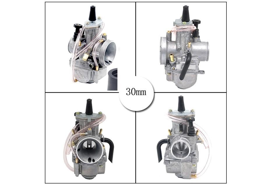 Alconstar-carburador de motocicleta 2t, motor keihin, 21,