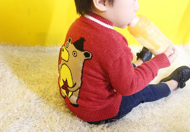 Bebé chaqueta de punto suéteres suéter de manga larga chaqueta para niñas niña suéter de la capa de la Historieta niños suéteres envío gratuito