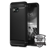 Aliantech Original RUGGED ARMOR Case For HTC U11 Carbon Fiber Texture Design Durable TPU Case For