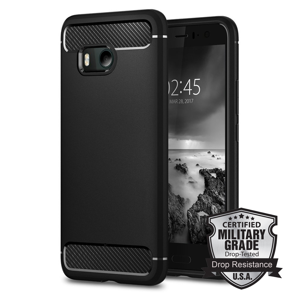 Aliantech Original RUGGED ARMOR Case For HTC U11 Carbon Fiber Texture Design Durable TPU Case For
