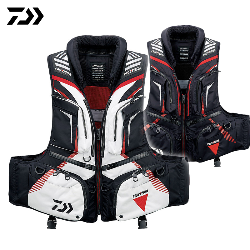 Daiwa Fishing Vest Backpack Adjustable Size Fly Fishing Safety Life Jacket Multi