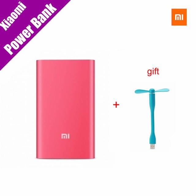 Оригинал Xiaomi mi Power Bank 5000 мАч (Красный) 5000 Тонкий Внешний Аккумулятор Портативное Зарядное Устройство Мобильный банк Питания