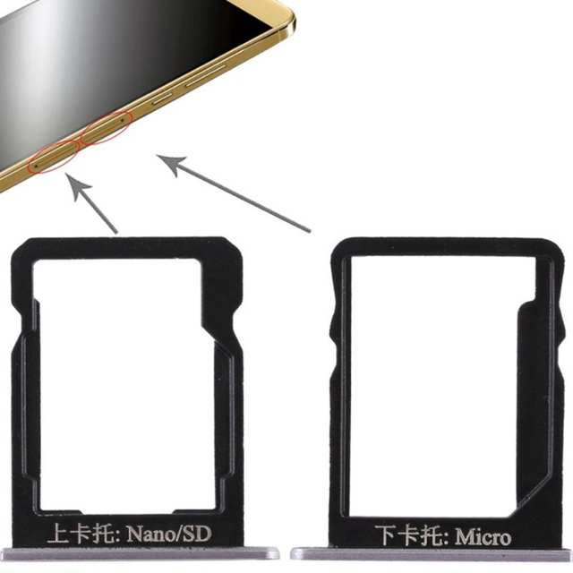 SIM Card Tray Dual Slot Holder Carrier Container Repair Part for Huawei  Honor 6 Plus/ Honor 7A