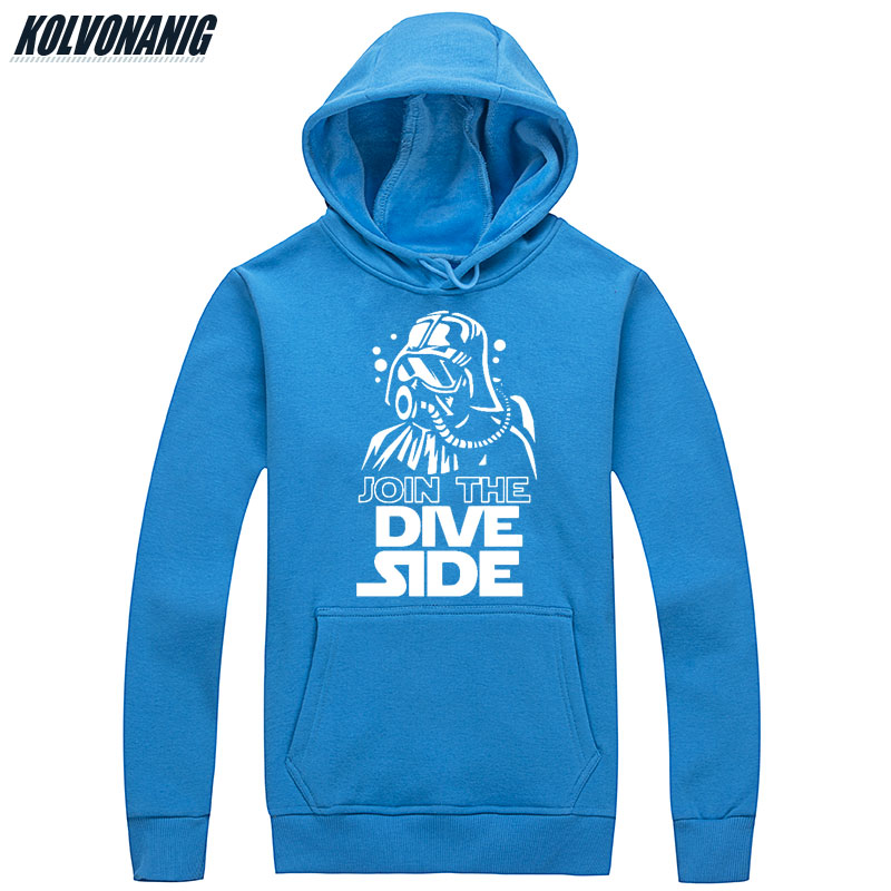 2019 Men's Winter JOIN THE DIVE SIDE Funny Printed Sweatshirts Tracksuit For Men Clothes Unisex Casual Anime Hoodie Pullover