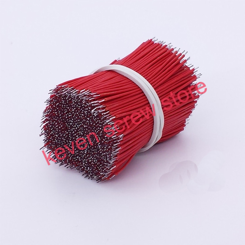 50pcs lots 0.1mm pcb solder cable 58101520 Fly jumper wire cable Tin Conductor wires color choose  7 Strands Pure copper
