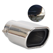 Universal 63mm Straight Stainless Steel Exhaust Tails Rear Tail Silencer Tip Pipe End for Car Vehicle
