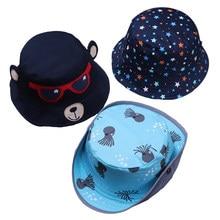 Chapéu de algodão para meninas e meninos, proteção solar, urso dos desenhos animados, estrela, padrão infantil, fotografia, primavera, verão, 2019 chapéus chapéus