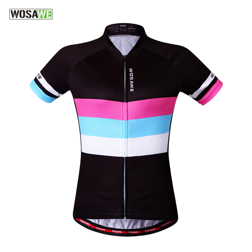 WOSAWE 2018 Breathable Cycling Jersey Women Summer Mtb Cycling Clothing Bicycle Short Maillot Ciclismo Bike Clothes S-XL