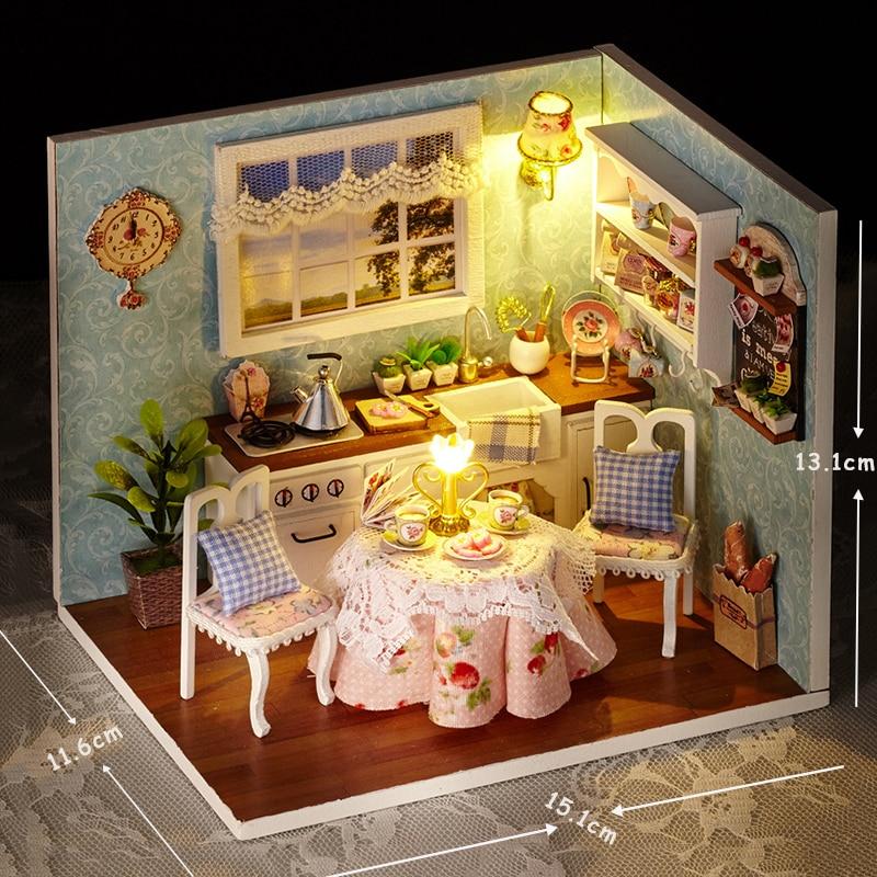 Casas de Boneca bonecas de madeira de presente Cor : Multicor