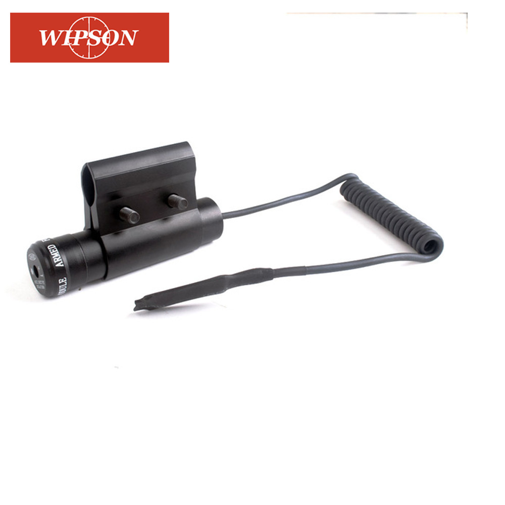 WIPSON Outdoor Hunting Tactical Red Dot Laser Sight Scope With Switch Mount For Pistol Picatinny Rail And Rifle Hunting Optics