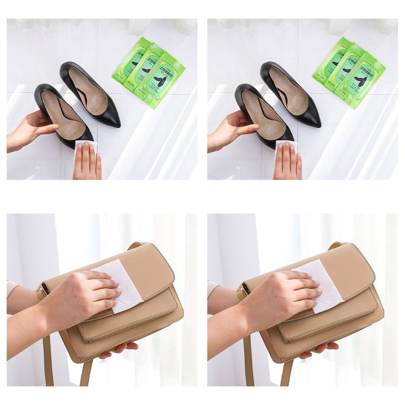 10 Counts/Bag Travel Portable Disposable Sneaker Wet Wipes Leather Shoes Sandals Cleaning Tissue Marks Eraser