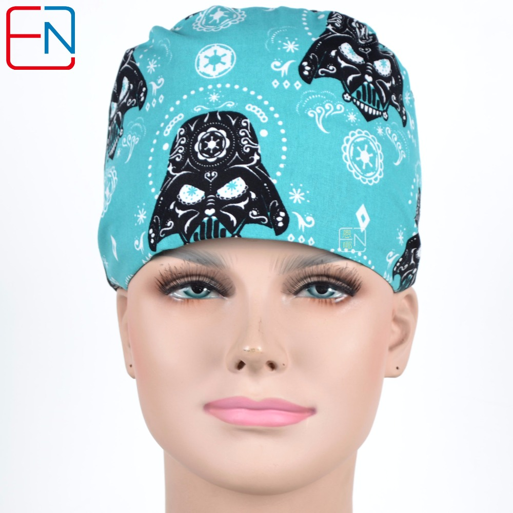 Factory Sales Directly Big Sales Medical Scrubs In Different Patterns ,surgical Caps 3 Sizes Scrub Caps Heiwushilan