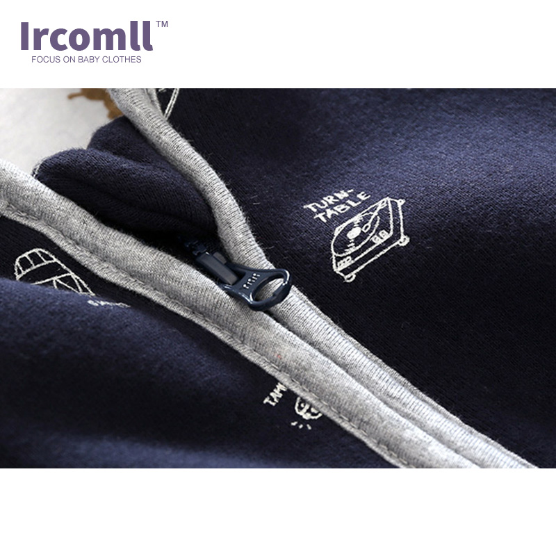 Ircomll Newest Top Quality Baby Clothing Sweatshirts Hooded Cotton Baby Rompers 2018 Spring Lucky Child Baby Costume