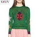 RZIV 2016 Mulheres Casual Brilhante borboleta joaninha decoração camisola