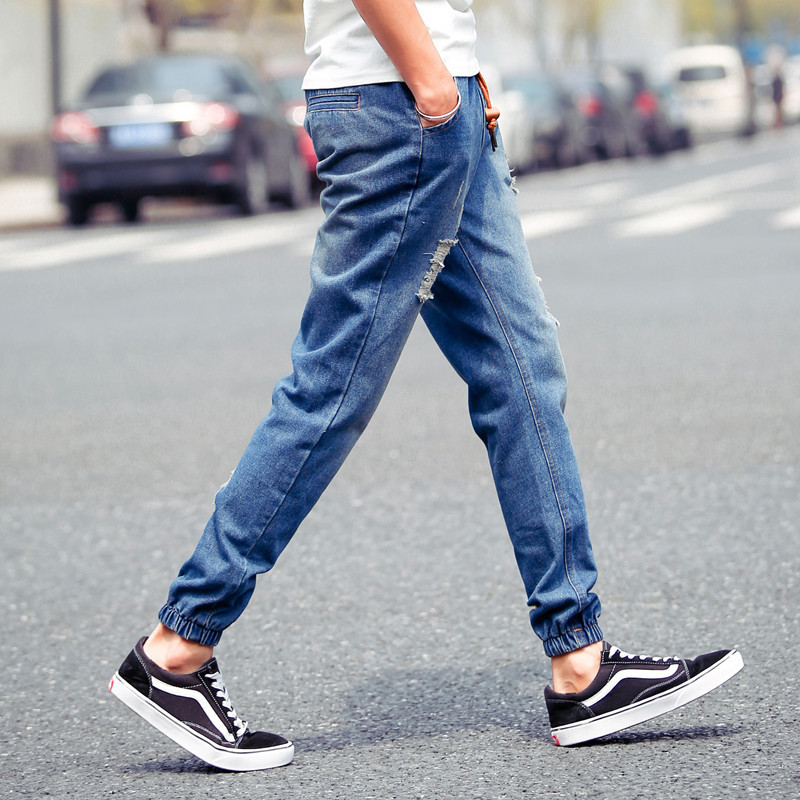 2015 Fashion Leisure Street Mens Jeans Ripped Jeans Men Summer Style Harem Denim Overalls Ankle ...