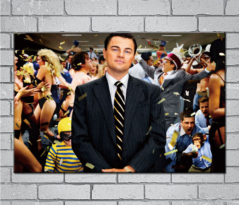 Leonardo Dicaprio Accent Wolf Of Wall Street: The Wolf Of Wall Street Leonardo DiCaprio Light Canvas
