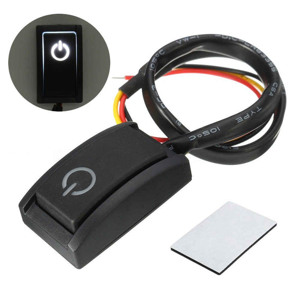 12V 200mA przycisk uruchamiający/wyłączający silnik samochodu zatrzask włącz wyłącznik LED Light TRUCK BOAT