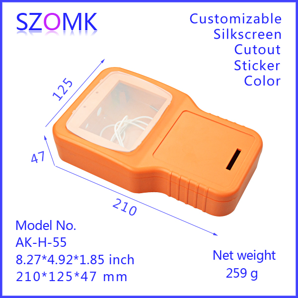 все цены на one piece szomk high quality abs electronics enclosures for pcb distribution handheld distribution 210x125x47 mm box abs mateial онлайн