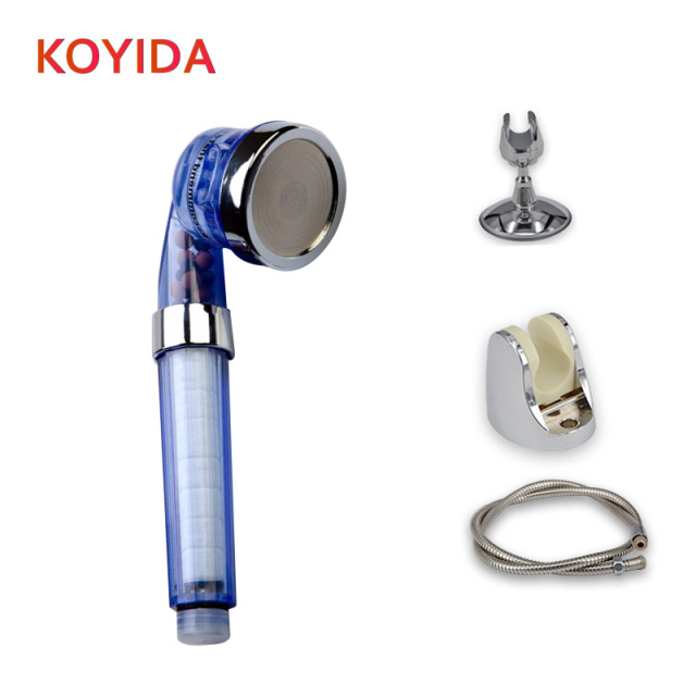 KOYIDA Bath Shower Head Set High Pressure Water Saving SPA Showerhead  Handheld Round Shower Filter Bathroom
