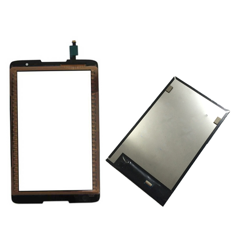 Black For Lenovo IdeaTab A8-50 A5500 A5500F A5500-H A5500-HV Touch Screen Digitizer Sensor Glass + LCD Display Panel Monitor free shipping original a8 50 a5500 hv claa080wq05 b080ean02 2 lcd screen external screen touch screen