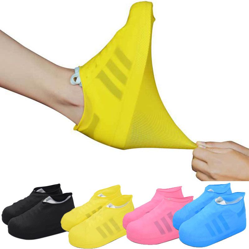 Outdoor latex shoe cover rainy day waterproof thickening non-slip wear foot cover kožne rukavice bez prstiju