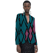 Women Casual African Blazer Female Fashion Costume Printed Suit Jackets Wedding Outfits Customized Lady Dashiki Clothes