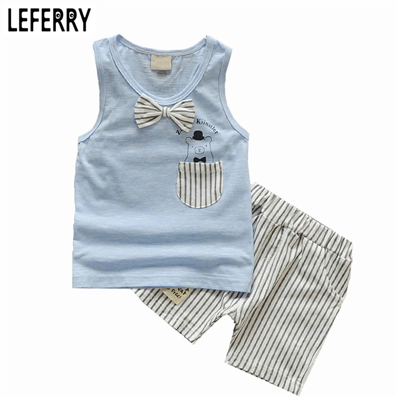 17ac823422b8 Summer Boys Clothing Sets Tank Top + Shorts Sleeveless Children Boy Clothes  Set Toddler Clothing Suit Set Kids Clothes Vest-in Clothing Sets from  Mother ...